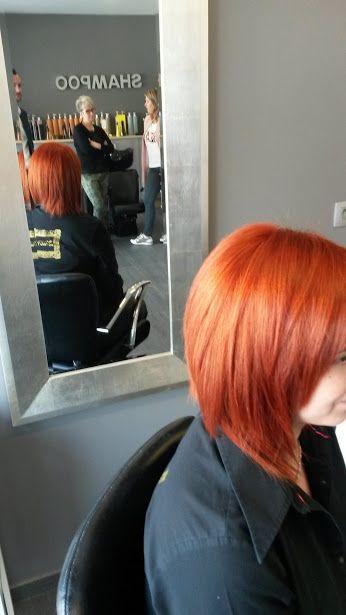 "Cosa significa ""Colour #SHINE  System""? Beh.. Questo :) #haircolor   #vibrant   #hair   #previa   #haircare   #previahaircare   Orange haircolor redhair red haircolor"