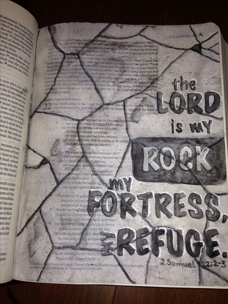 Bible Journaling 2 Samuel 22:2-3