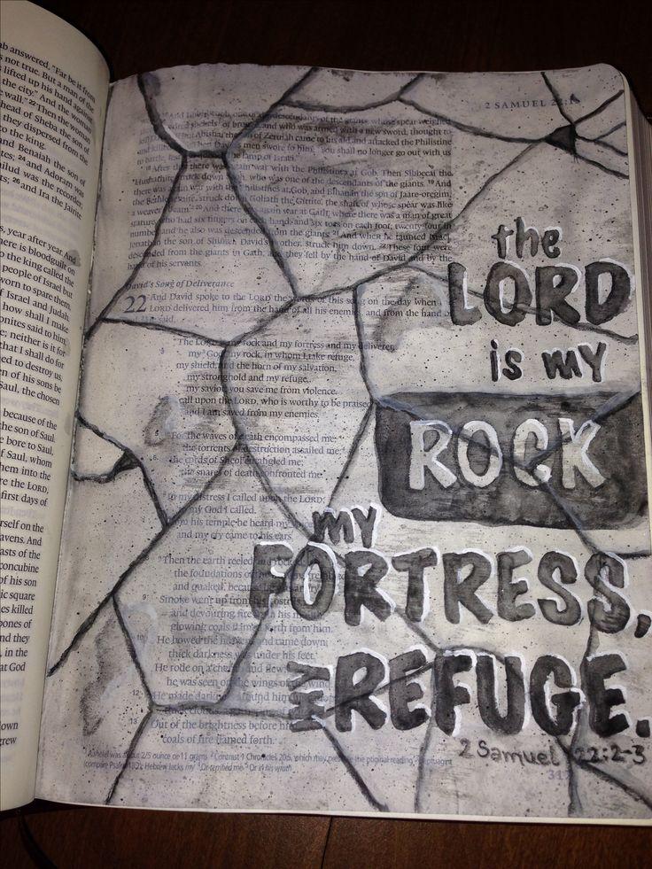 Bible Journaling 2 Samuel 22:2-3