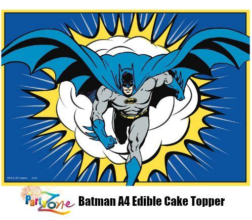 Batman A4 Edible Image http://partyzone.com.au/batman-a4-edible-image-p-5435.html