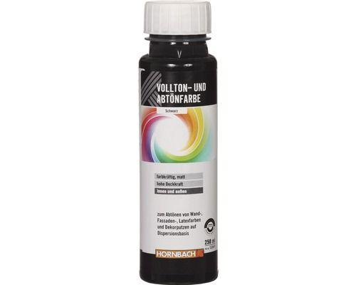 Vollton- und Abtönfarbe schwarz 750 ml