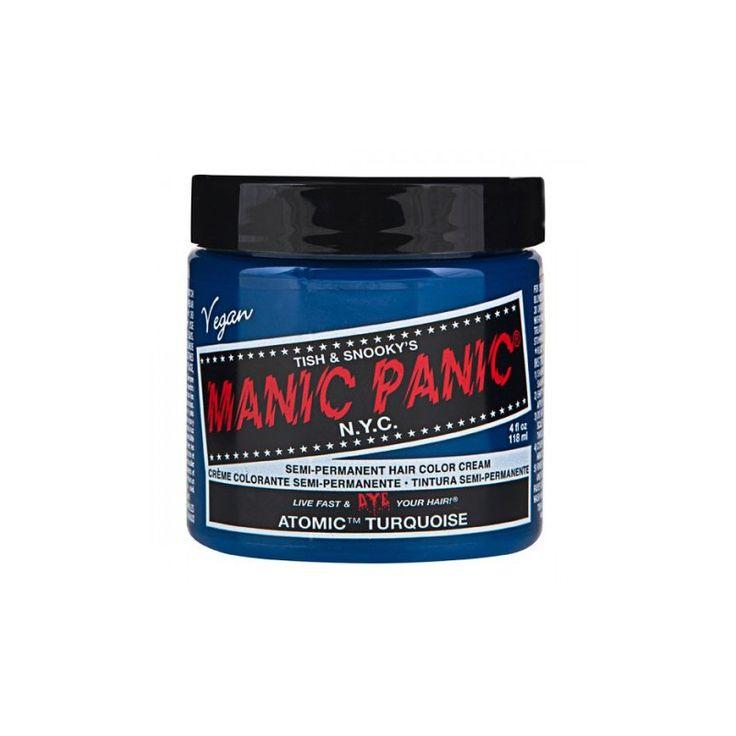 Los colores semipermanentes para el cabello de Manic Panic se consiguen a base de un complejo fortificado de hierbas y proteínas naturales.