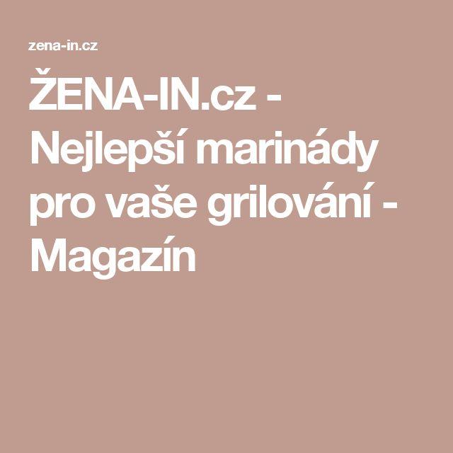ŽENA-IN.cz - Nejlepší marinády pro vaše grilování - Magazín