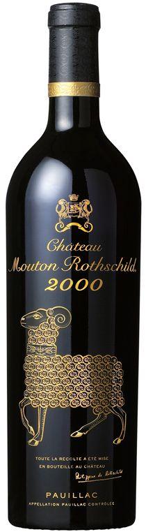Château Mouton Rothschild 2000. Tolle Geschenke mit Wein gibt es bei http://www.dona-glassy.de/Geschenke-mit-Wein:::20.html