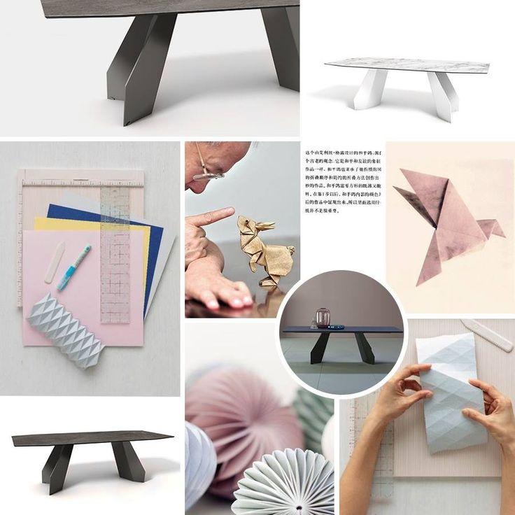 Ispirato da questa antica arte giapponese, Gino Carollo disegna per Bonaldo Origami.  La base del tavolo è infatti costituita da sottili fogli di metallo piegati come la carta dell'origami, che conferiscono al tavolo stabilità ma anche massima leggerezza visiva.  #Bonaldo #rossimobili #botticino