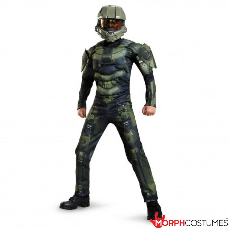 Boys Fancy Dress Costumes: We LOVE Halo. We play it ALOT. Too much even! If you love this awesome shooting games as much as us lot do you will want this Master Chief Muscle Kids Costume.