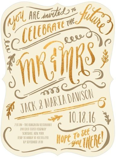Beautiful Engagement Party Invite