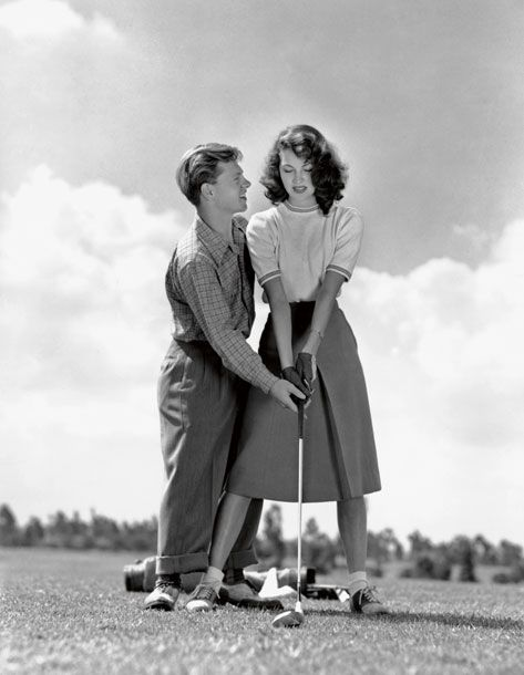 "Mickey Rooney and his first wife, Ava Gardner, 1942. Ava Gardner once famously said of Rooney, ""Don't let the little guy fool you…He knew every trick in the book.""  Vulture Mag. Photo: Eric Carpenter/Courtesy of the John Kobal Foundation Archive"