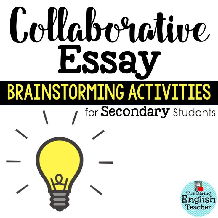 Collaborative Teaching With Students ~ Collaborative essay brainstorming activities for secondary