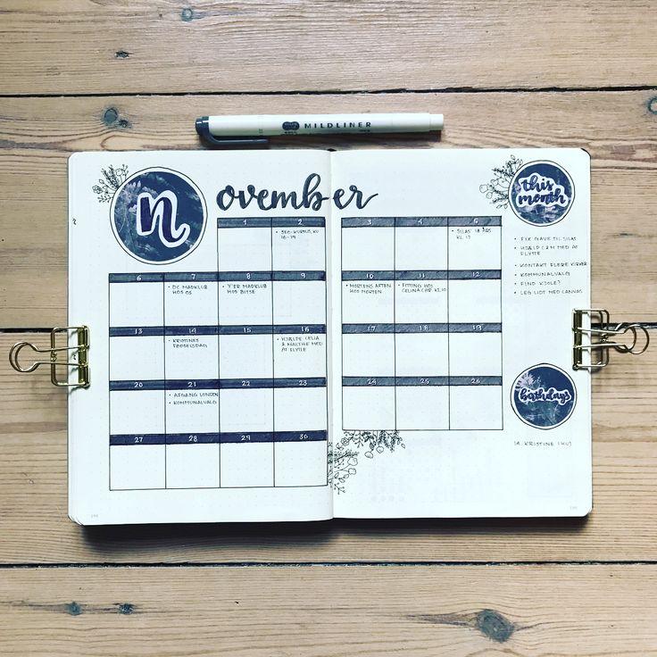 304 Likes, 12 Комментарии - Нина (@bujobeyond) на Instagram: «Мой ежемесячный журнал в ноябре. Я второй раз просматриваю календарь, и мне очень нравится ...»