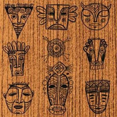 дизайн маски татуировки