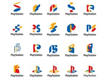sony playstation 1 logo. logo development (!) of sony playstation 1