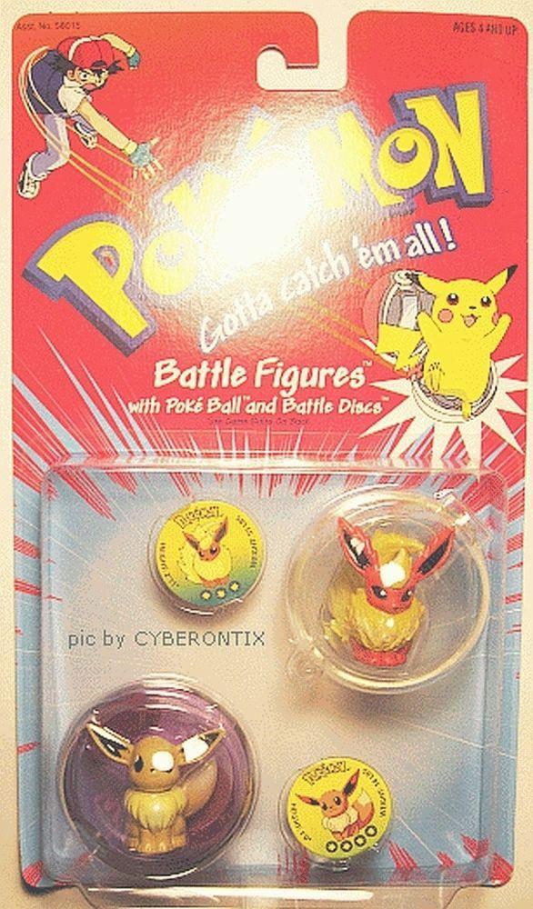 Cool EEVEE & FLAREON Pokemon two Battle Figures from Hasbro USA
