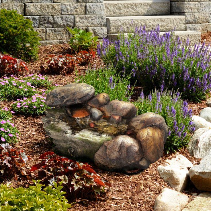 ein kleines stein feature kann eine groe bereicherung fr einen garten machen diese kleine - Ideen Fr Kleine Hinterhfe Ohne Gras