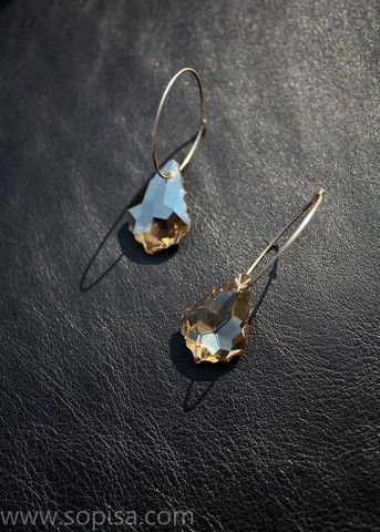 Sterling Silver Earings With Swarovski Crystals