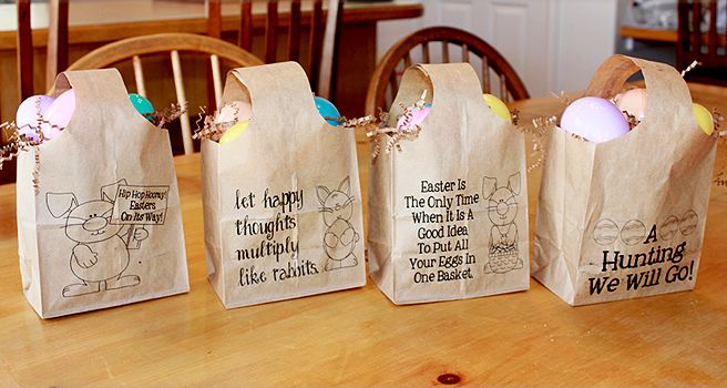 Quick and easy paper easter bags paper bags paper and easter negle Gallery