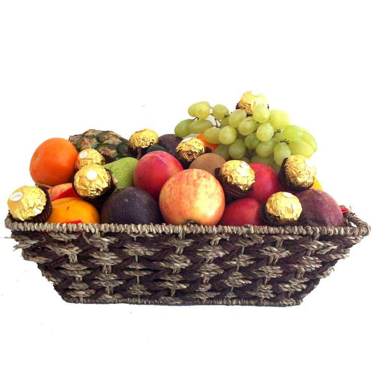 Best 25 fruit baskets delivered ideas on pinterest fruit gift gift baskets ferrero chocolates pink silk roses delivered free made of natural seagrass and filled with seasonal fruits negle Image collections