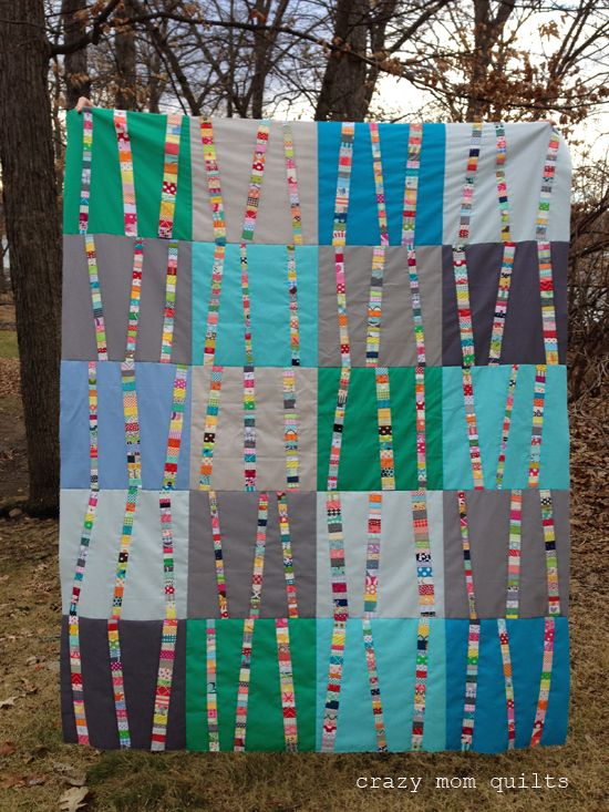 I finished my bright birch tree quilt top! This is the third version of this pattern that I've made to date. I decided to abbreviate the n...