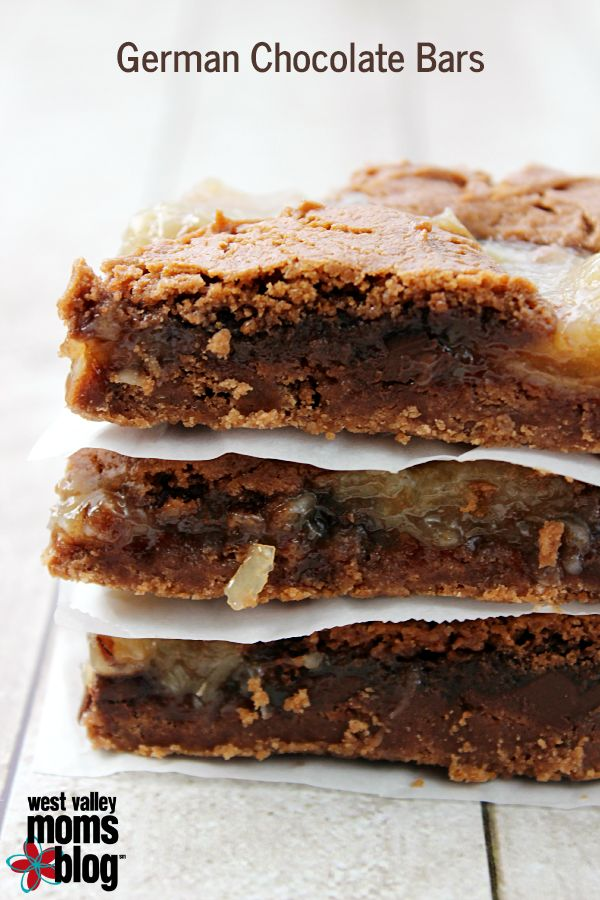 These German Chocolate Bars are a quick and easy treat that you can whip up in no time! A boxed cake mix and a can of frosting help make this recipe super easy!