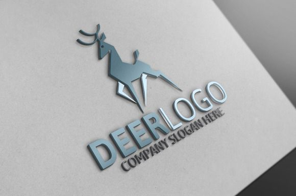 Deer Logo by josuf on Creative Market
