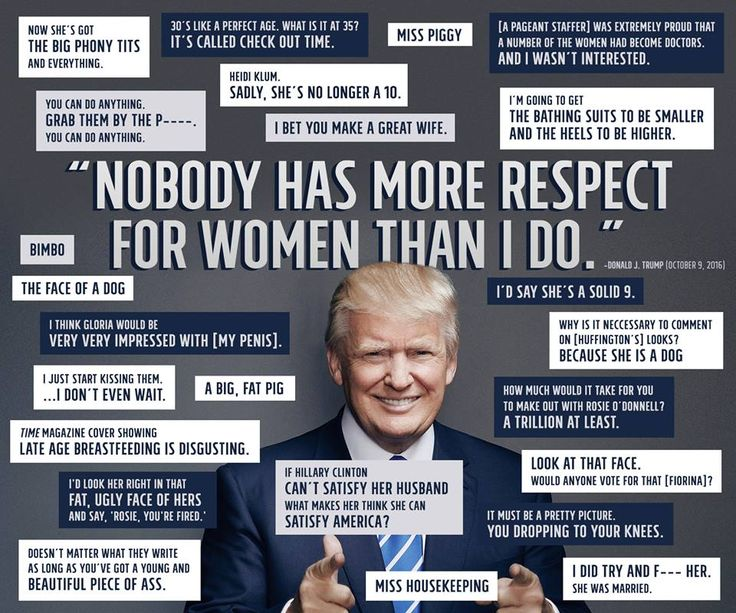 #notmypresident this man is disgusting. Thanks for putting a rapist in the white house who doesn't give a shit about half of the population of the United States and the world.