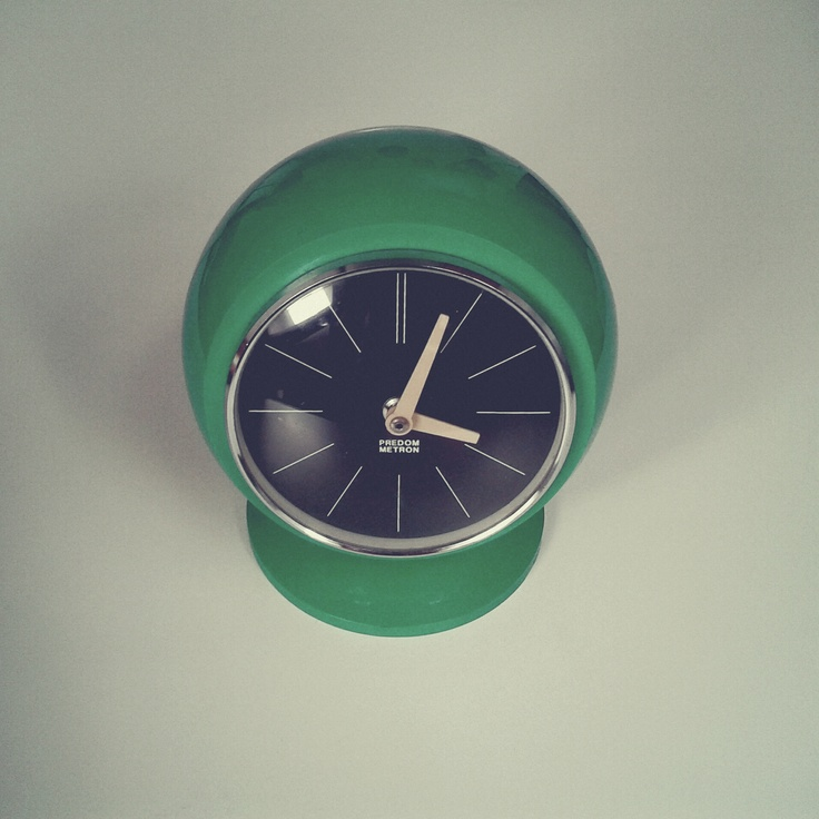 Fireplace clock by Predom-Metron, bought on flea market in Kraków, Poland. / Photo by @Tomasz Jurecki #wysokipolysk #fleastyle #polishdesign #clock