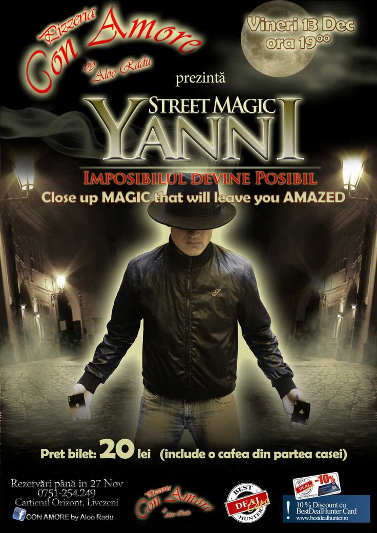 SmartPlan Agency | Yanni Magic Show Servicii de Marketing: Event Concept, Eevent Management, Design, Promovare si Publicitate