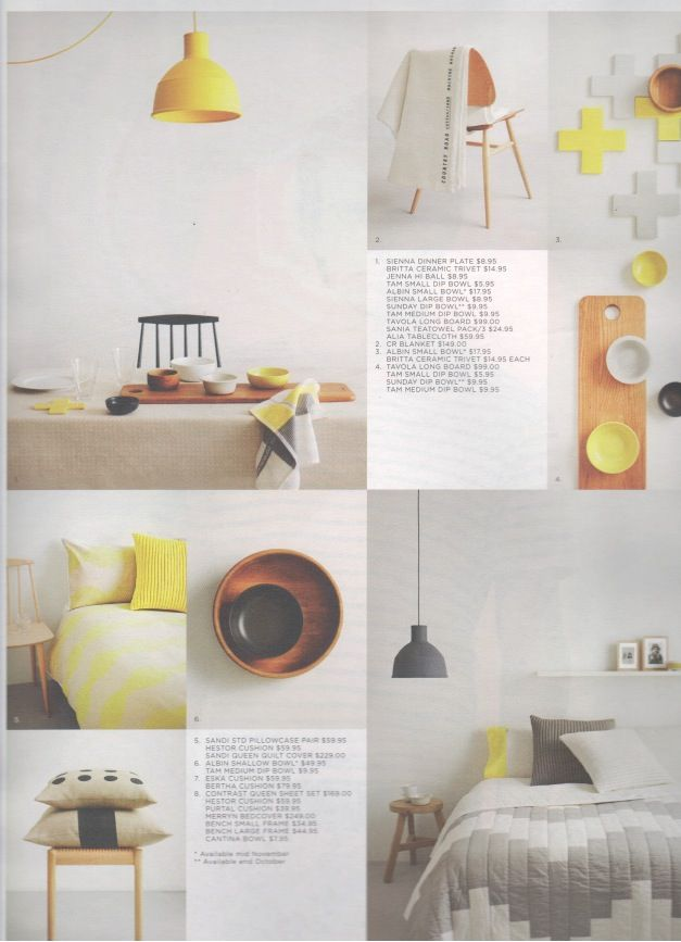 Muuto Unfold Pendants As Seen In The Summer 2012 Country Road Catalogue