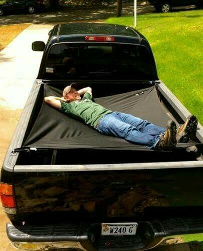 Truck Hammock, cool Maybe something for ?