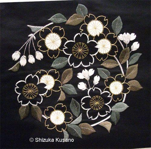 Shizka Kusano san - Japanese embroidery design