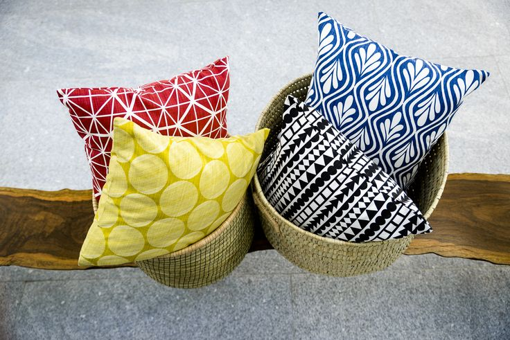 Odeon stocks an array of fabrics, pillows and baskets. All hand-made and local. Photo by Adriaan Louw
