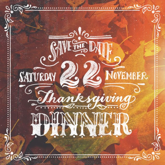 #CMAwesomeAutumn Entry from Ornaments of Grace in the Creative Market Awesome Autumn Design Contest - A little save the date for a early holiday dinner, using Autumn Pack (free good - http://crtv.mk/jkKR) and SwiftType (http://crtv.mk/hklz) God Bless!