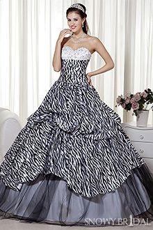 Prom dress zebra print placemats