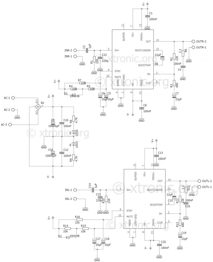 Led Vu Meter Schematic