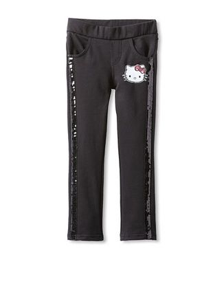 62% OFF Hello Kitty Girl's Skinny Knit Pull On Pant (Anthracite)