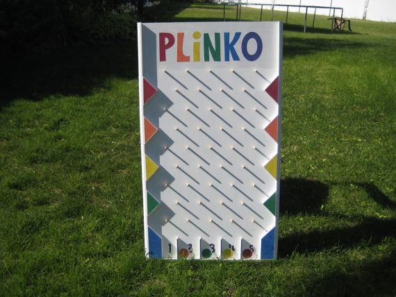 My son made this Plinko board and has the plans available on Etsy.  Much easier than trying to figure it out yourself.  Inexpensive plans and the board is fun for carnivals, parties, etc.