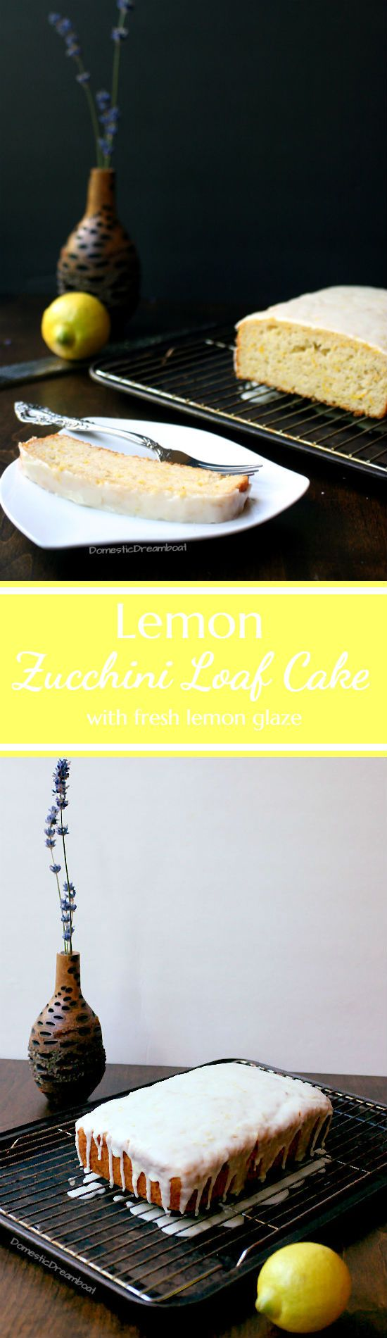 Lemon Zucchini Loaf Cake is a great way to use extra zucchini - it's a tasty dessert with a fresh lemon flavor and you can't even tell the zucchini is there!