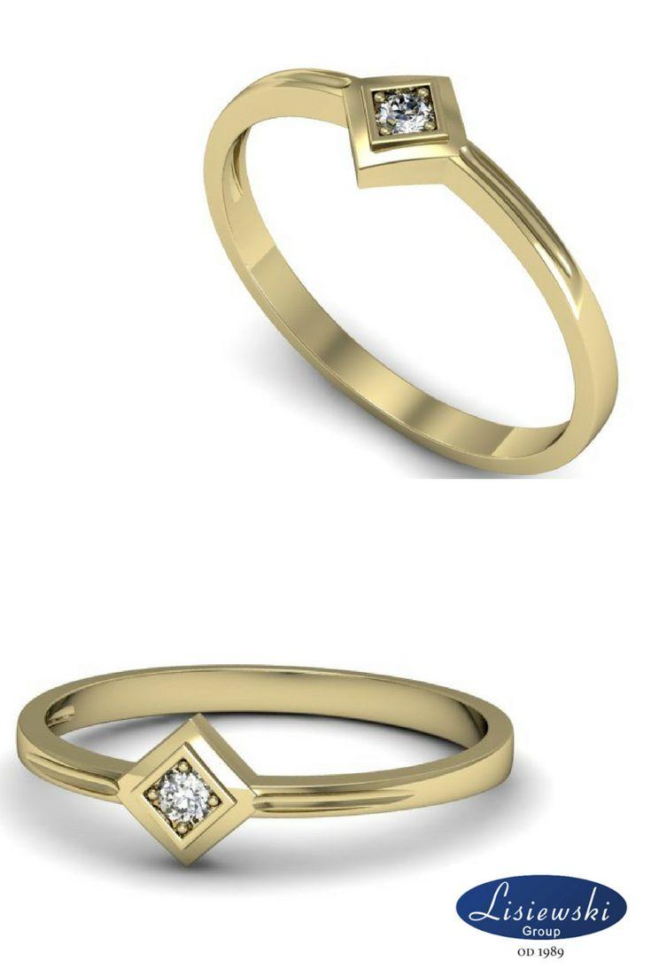 Złoty pierścionek z diamentem || Golden ring with diamond #diamonds #goldjewellery