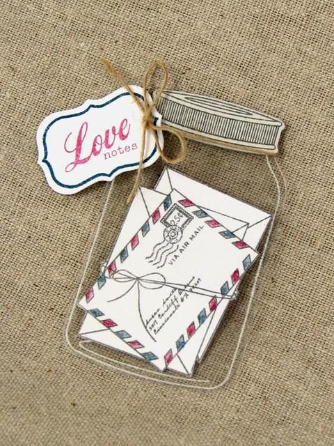 Friendship Jar Tag - This would look lovely tucked within the pages of a scrapbook ... or used as a 'front' for a handmade card.  (front = topper,  I just don't feel 'topper' does it for this jar - it's so cute!)