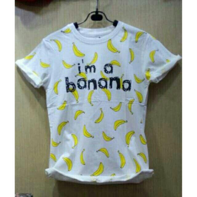 Saya menjual Kaos wanita / kaos lengan pendek / i'am banana / size allsize seharga Rp40.000. Dapatkan produk ini hanya di Shopee! https://shopee.co.id/ssfashionkaos/462271845 #ShopeeID
