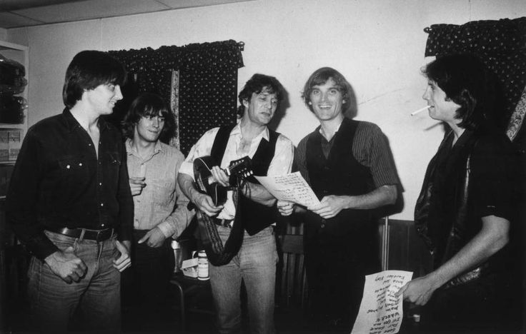 August 1984 backstage at McCabe's in Santa Monica, Ca. It was actually a Roger McGuinn gig with the acoustic Long Ryders opening. I had a fever of 102 due to an ear infection. Gene showed up to sing with McGuinn but hung out with us a fair bit. (He and McGuinn sang Bells Of Rhymney and Chimes Of Freedom together.)