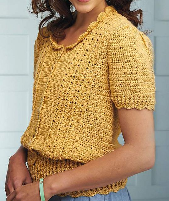Hello Sunshine cardigan pattern by Kat Goldin Simply Crochet Magazine Issue 21