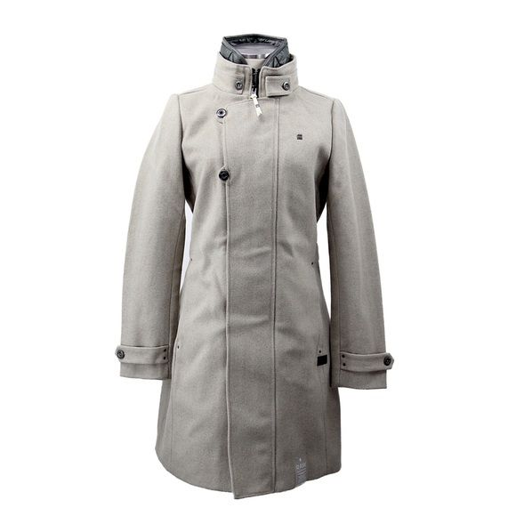 G-Star Raw Minor Wool Slim Coat Color: MILK. For more sizes, please ask or visit our website at www.bananamelons.com G-Star Jackets & Coats Trench Coats