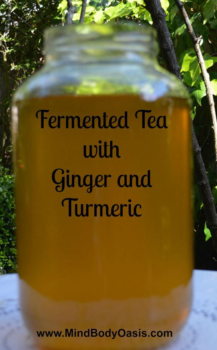 Fermented Tea Fermented Tea with Ginger and Turmeric #fermentedtea #fermentedfoods #turmeric