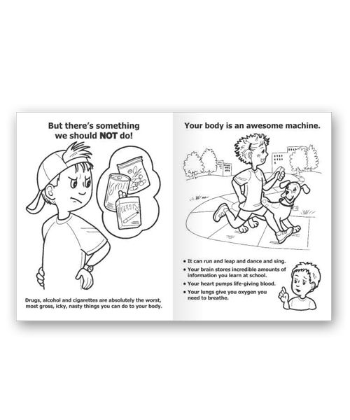 Say No to Drugs Coloring Pages Printable Increase Brain