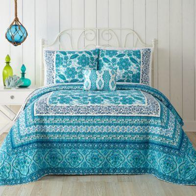 Image Of Jessica Simpson Aqua Flora Quilt In Blue Aqua