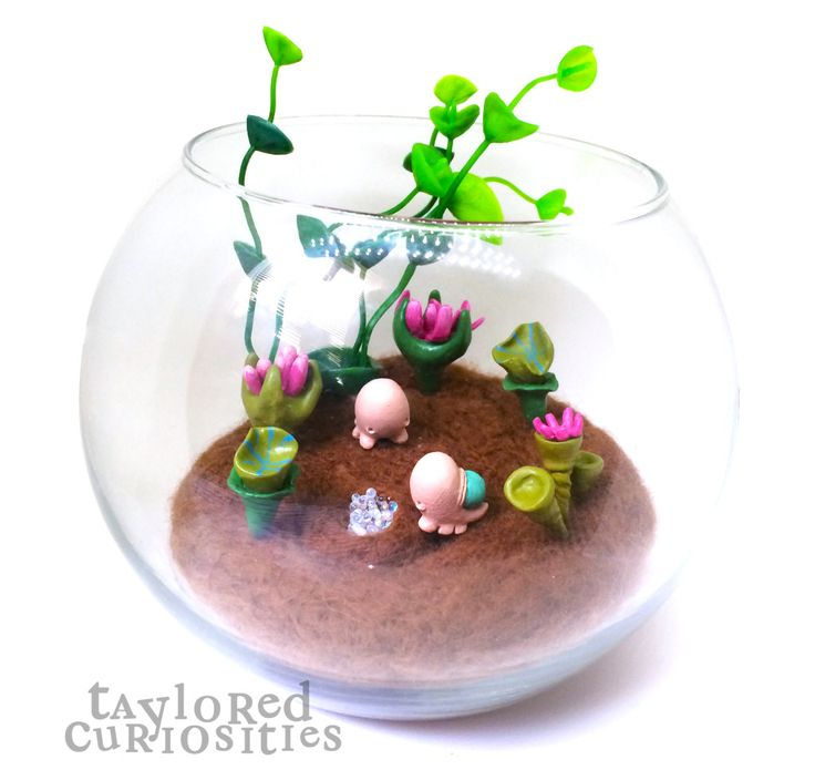taylored curiosities spriggledop snail terrarium designer toy plants green okemordyn resin handmade copyright protected 8