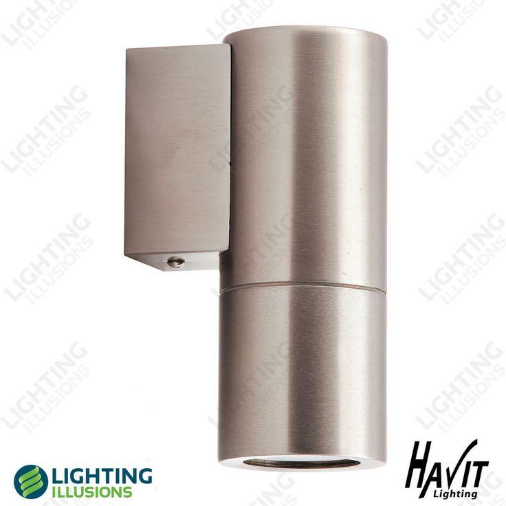 Exterior Stainless Steel Fixed Down Pillar Light 240V GU10 - 5W LED - Warm White - HV1171W , External LED Lighting