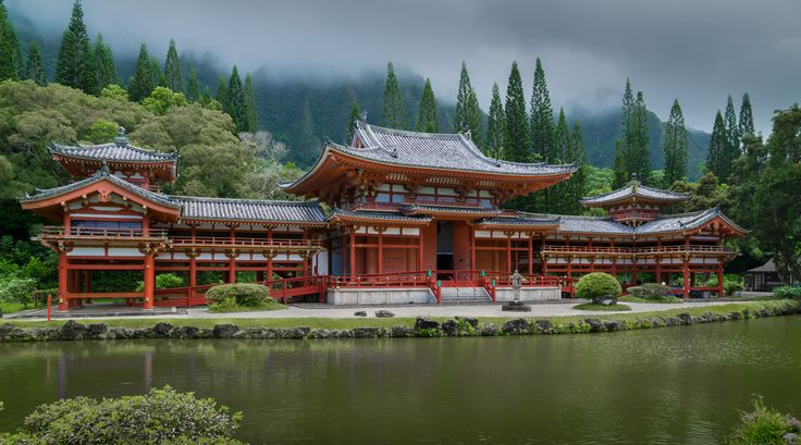 Located at the foot of the Ko'olau Mountains in the valley of the temples... Kahaluu, Hawaii lies this beautiful temple. Purchase a print, cards, mugs, a phone case or a full size digital file of this image at www.kirkvogel.com
