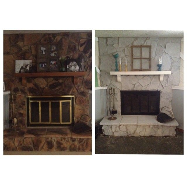 Fireplace facelift use annie sloan paris gray chalk for How to mix grey paint